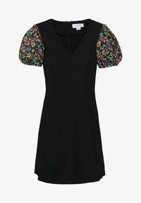 Lost Ink Petite - SLEEVE DETAIL MINI DRESS - Robe d'été - black - 5