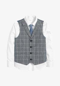 Next - BLUE CHECK WAISTCOAT, SHIRT AND TIE SET (12MTHS-16YRS) - Waistcoat - blue - 0