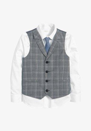 BLUE CHECK WAISTCOAT, SHIRT AND TIE SET (12MTHS-16YRS) - Waistcoat - blue