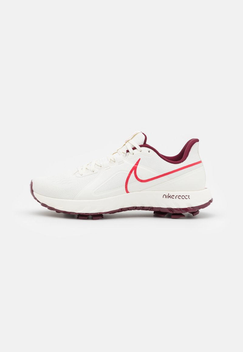 Nike Golf - REACT INFINITY PRO - Golfschoenen - sail/dark beetroot/fusion red