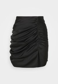 RUCHED DETAIL MINI SKIRT - Minirok - black