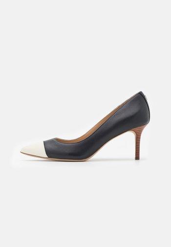 LANETTE - Classic heels - navy/vanilla