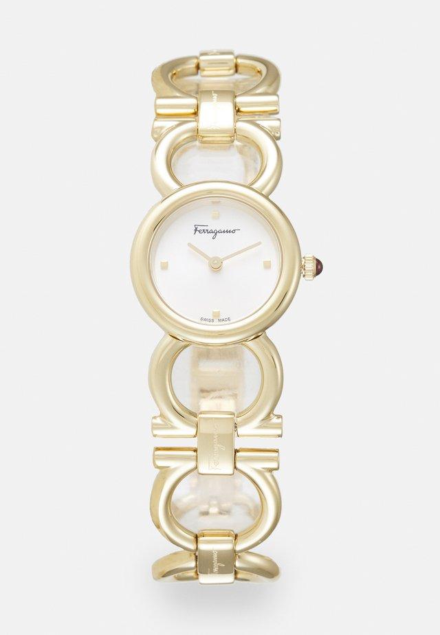 DOUBLE GANCINI ROUND - Horloge - gold-coloured