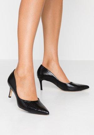 Classic heels - shiny schwarz