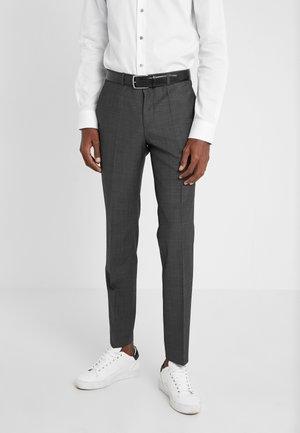 HESTEN - Suit trousers - charcoal