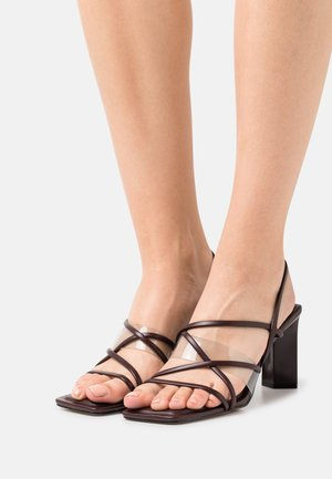 JENNIFER - Sandals - dark brown