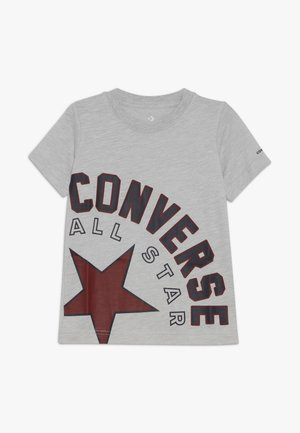 SIDEWAYS LOCKUP TEE - T-shirt print - grey heather