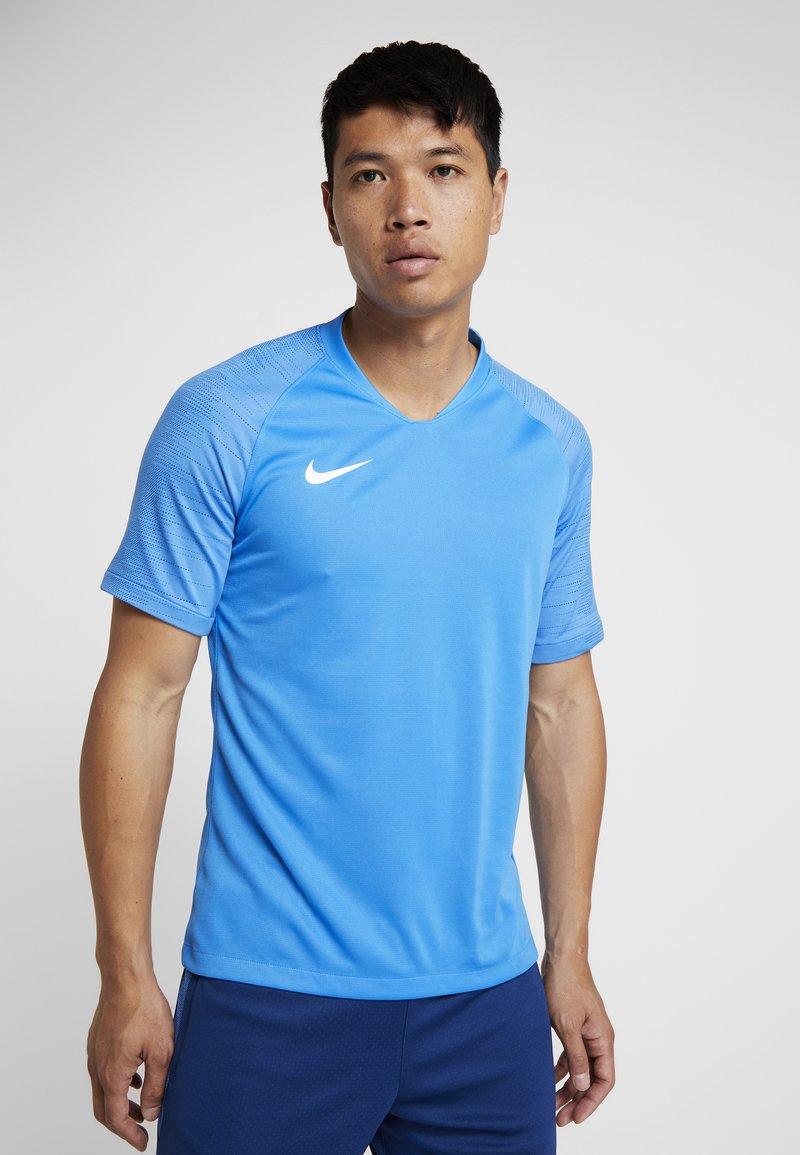 Nike Performance - T-shirt med print - light photo blue/coastal blue/white