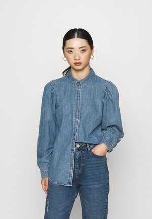 ONLROCCO LIFE SHIRT - Button-down blouse - medium blue denim