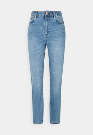NMISABEL MOM - Džíny Straight Fit - light blue denim