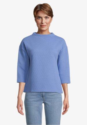 MIT RIPPENSTRUKTUR - Sweatshirt - cornflower
