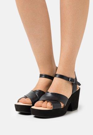 MARITSA STRAP - Sandały na platformie - black