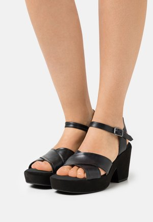 MARITSA STRAP - Platform sandals - black