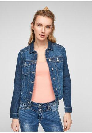JEANSJACKE MIT WASCHEFFEKT - Denim jacket - dark blue