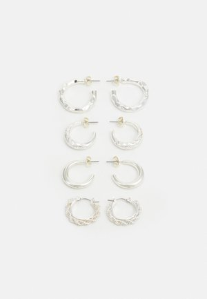 PCSOL HOOP EARRINGS 4 PACK  - Oorbellen - silver-coloured