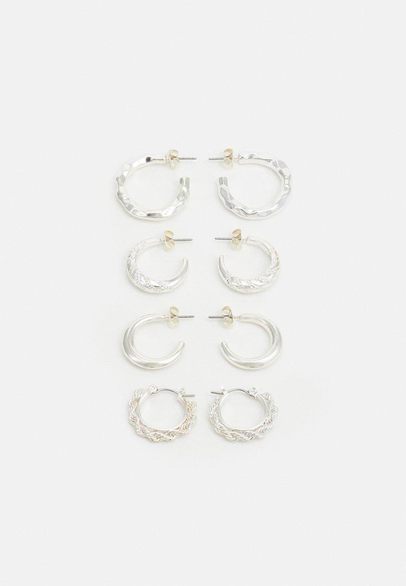 Pieces - PCSOL HOOP EARRINGS 4 PACK  - Oorbellen - silver-coloured