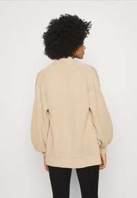 New Look - STITCHY BALLOON SLEEVE CARDIGAN - Cardigan - camel - 2