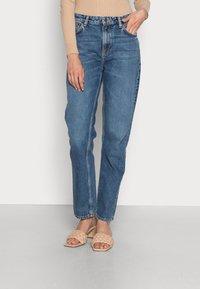 Nudie Jeans - LOFTY LO FAR OUT - Straight leg jeans - blue denim - 0