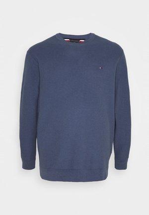 HONEYCOMB CREW NECK - Jumper - blue