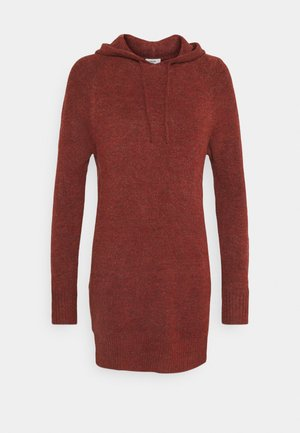 JDYANNE HOOD DRESS - Jumper dress - russet brown melange