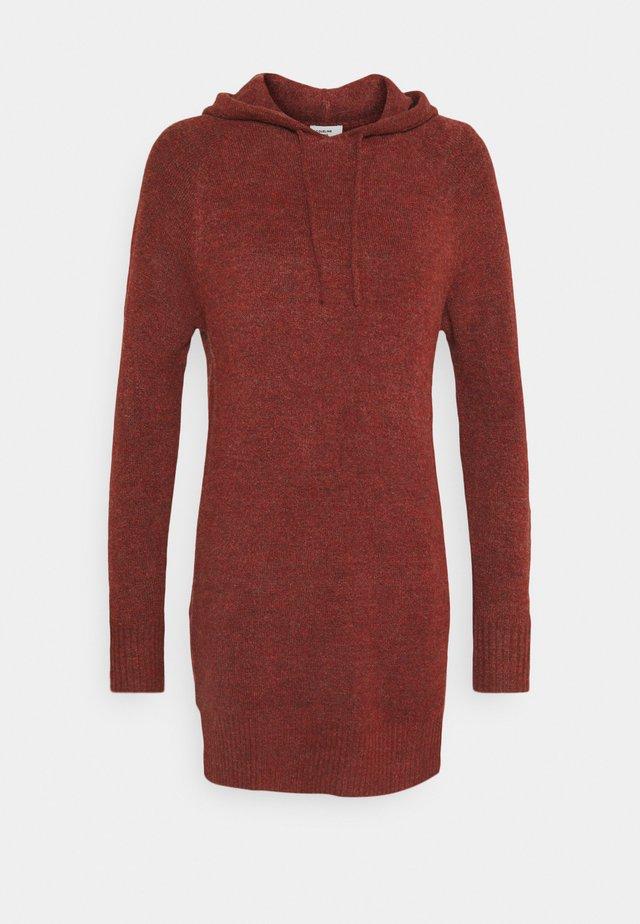 JDYANNE HOOD DRESS - Robe pull - russet brown melange