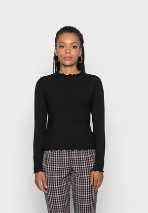 PCNICCA NECK - T-shirt à manches longues - black