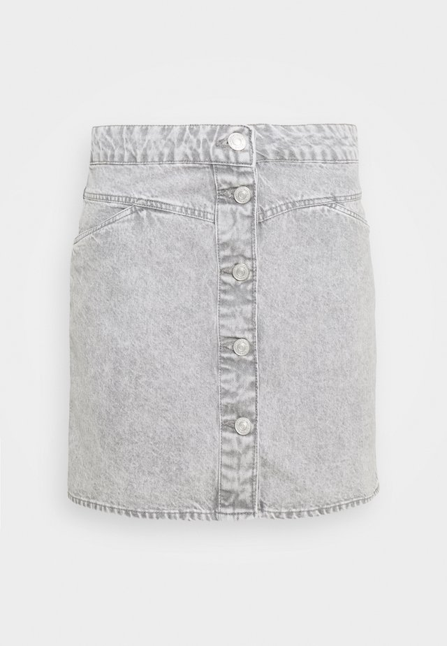 NMBE JUNE SHORT SKIRT - Jeansrok - light grey denim