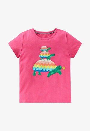 Print T-shirt - pink schildkröte