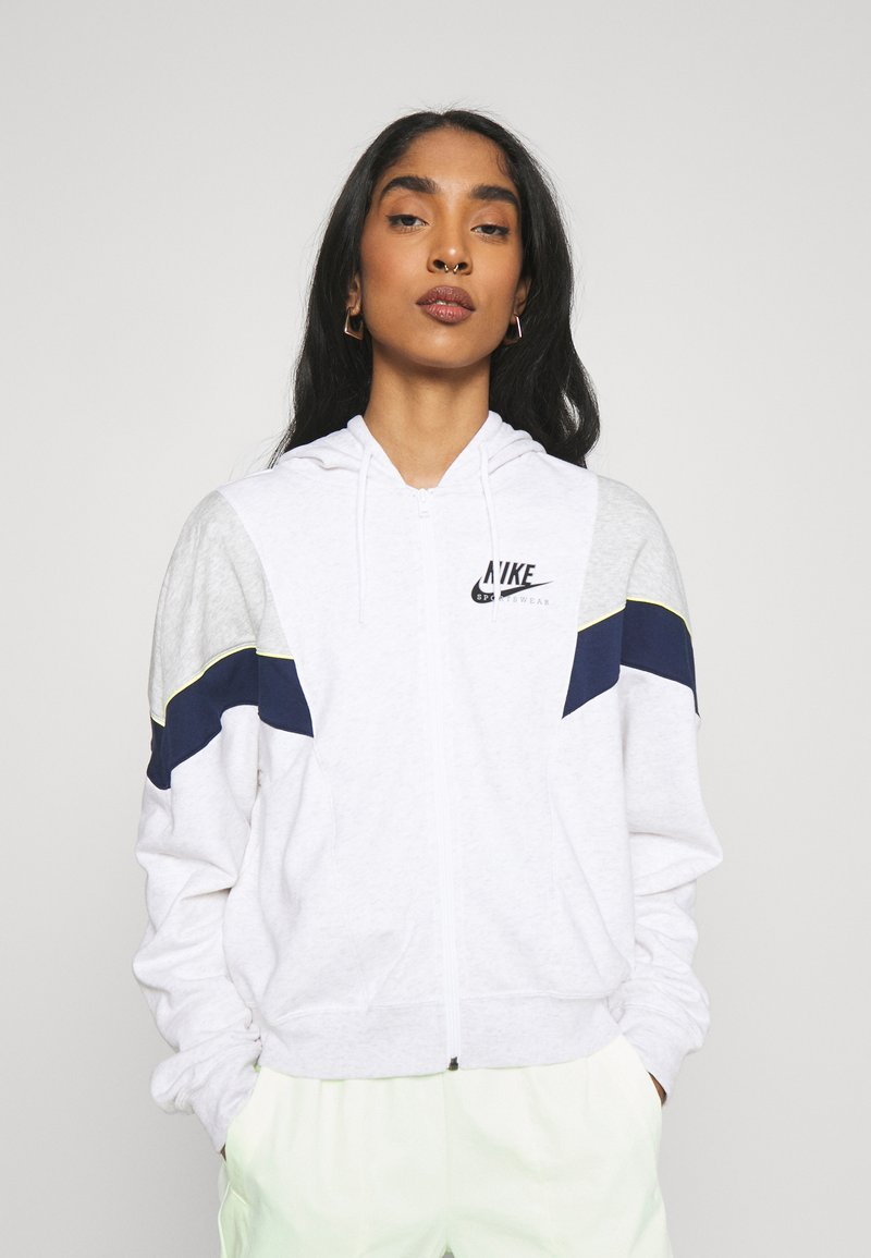 Nike Sportswear - HERITAGE - Zip-up hoodie - birch heather/grey heather/midnight navy