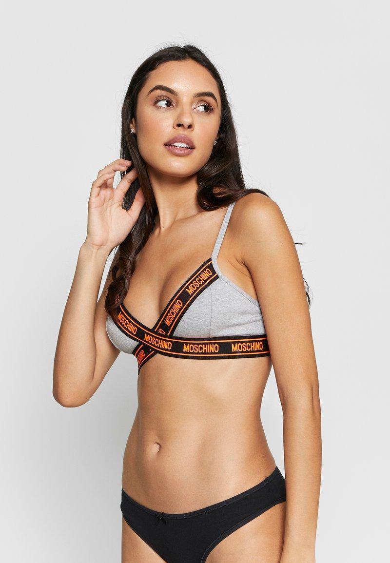 Moschino Underwear - TRIANGLE BRA - Trojúhelníková podprsenka - gray melange