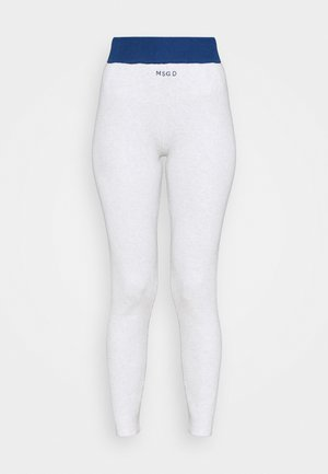 CONTRAST SEAM DETAIL - Leggings - Trousers - white