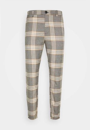 PISA URBAN CHECK - Trousers - beige/orange