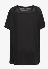 adidas Performance - OWN THE RUN TEE - T-shirt print - black - 1