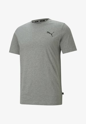 ESS SMALL LOGO TEE - Basic T-shirt - medium gray heather-cat