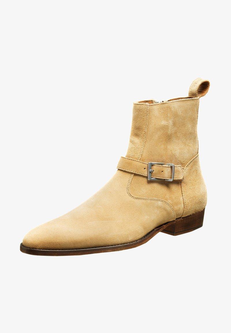 Tigha - Cowboy/biker ankle boot - beige