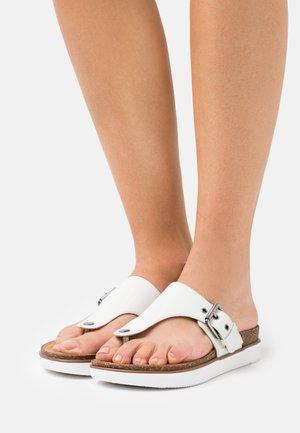 ELAYNE STEP - T-bar sandals - white