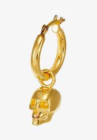 Northskull - ATTICUS SKULL HOOP EARRING - Boucles d'oreilles - gold-coloured - 4