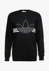 adidas Originals - OUTLINE PULLOVER - Collegepaita - black - 5