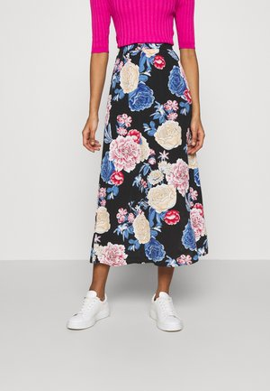 VIKITTIE NEW MAXI SKIRT - Áčková sukně - black/blue/rose/beige