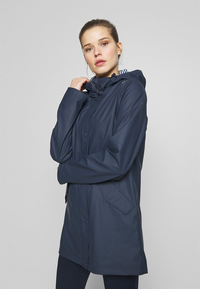 RAIN JACKET FIX HOOD - Blouson - black blue