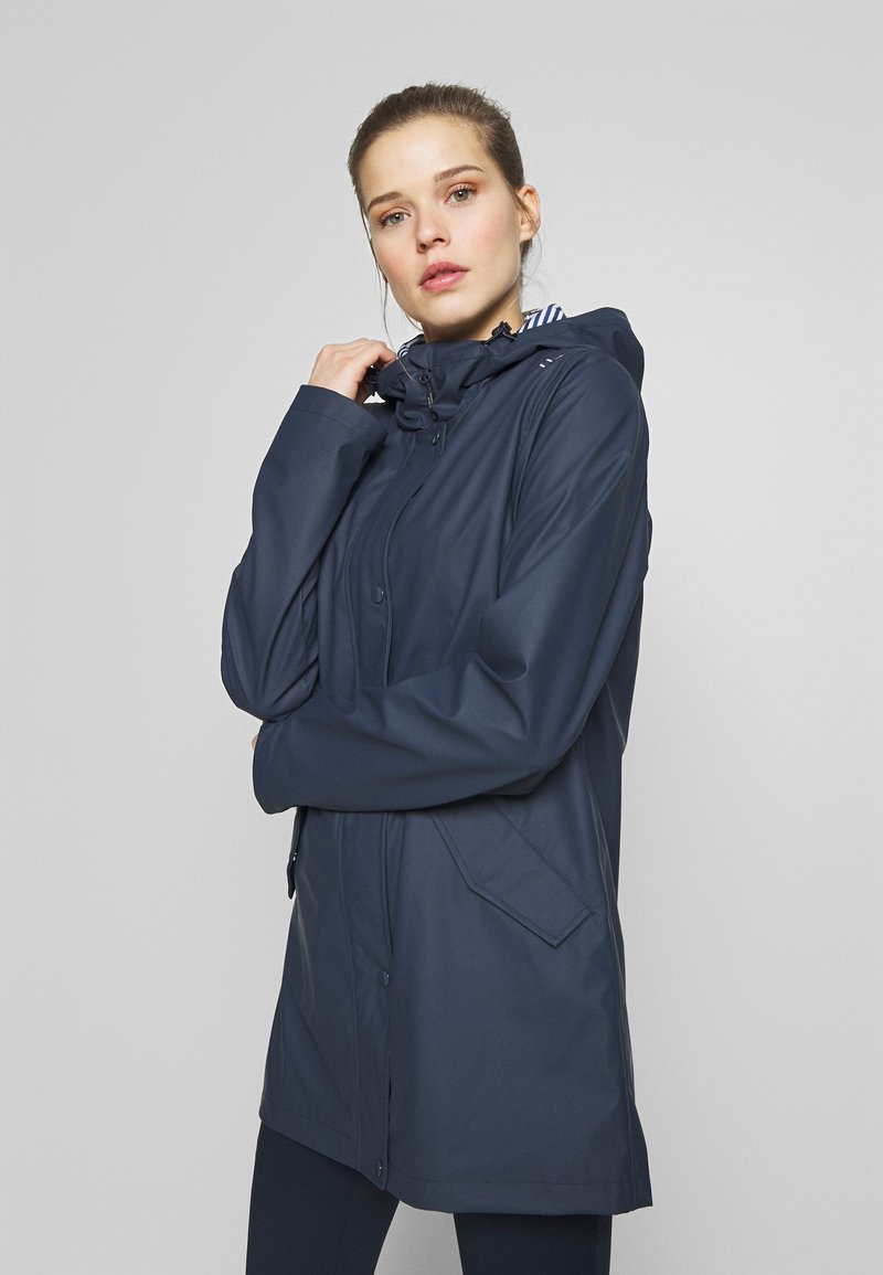 CMP - RAIN JACKET FIX HOOD - Impermeable - black blue