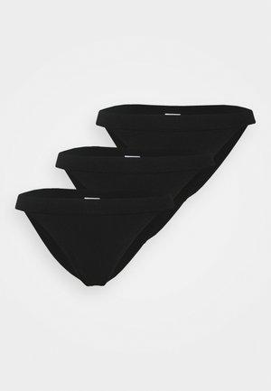 SEAMLESS TANGA BRASILIANO 3 PACK - Alushousut - black/black/black