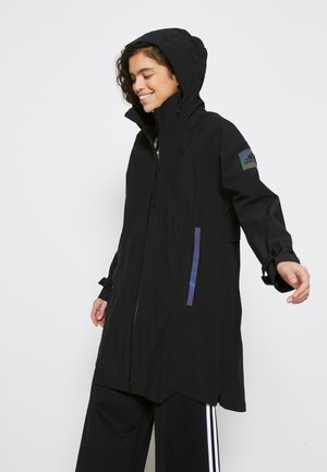 MYSHELTER - Waterproof jacket - black/rairef