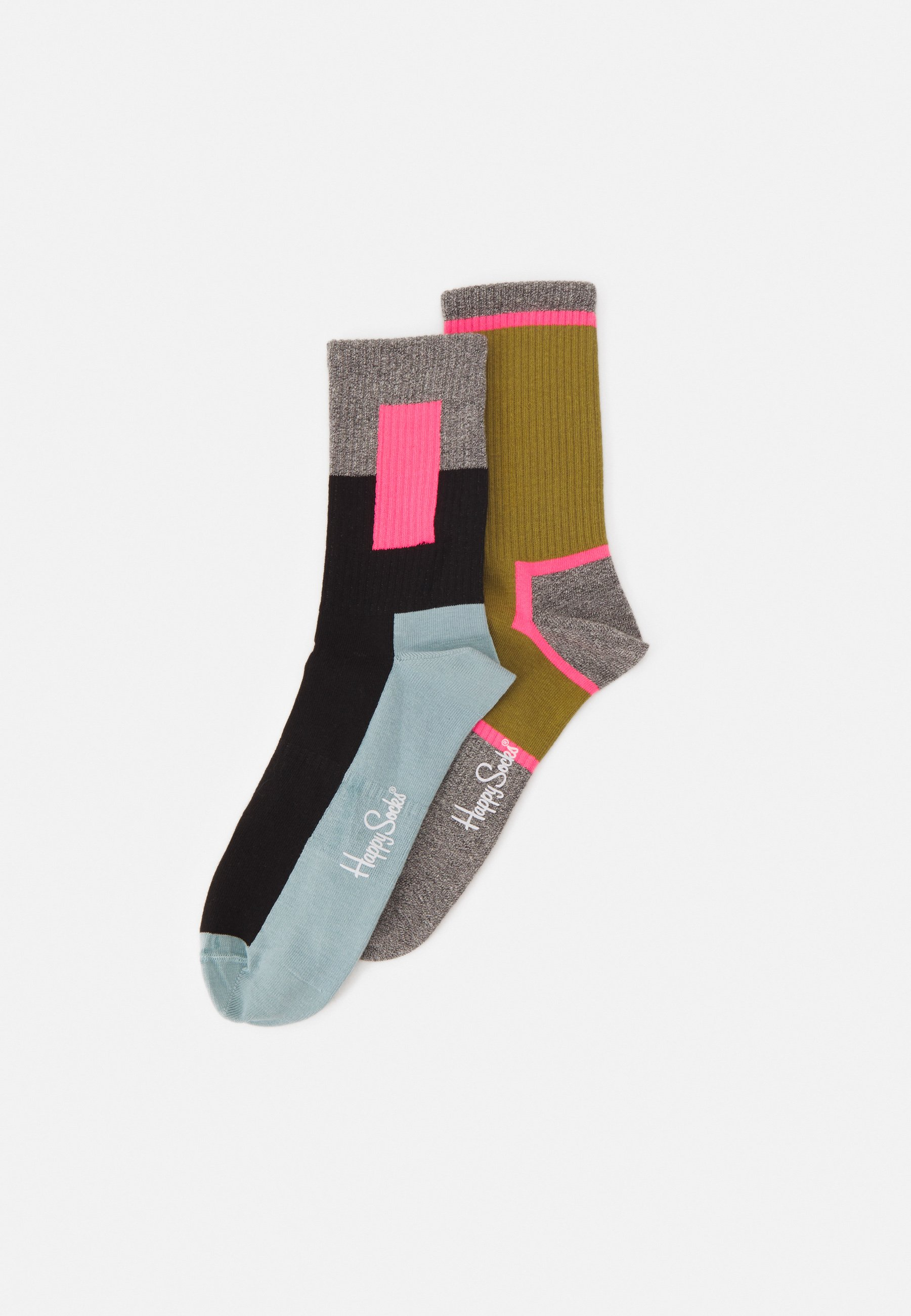 Femme BLOCKED + GRAPHIC 2 PACK UNISEX - Chaussettes
