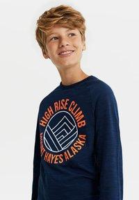 WE Fashion - MET NEONDETAILS - T-shirt print - dark blue - 1