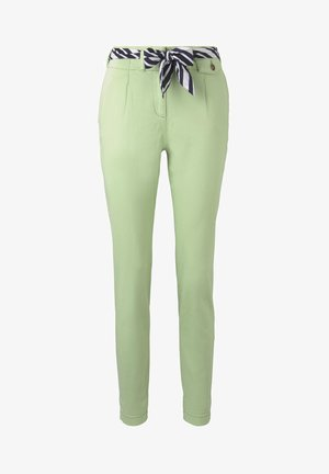 PAPERBAG PANTS - Chinos - light pistachio green