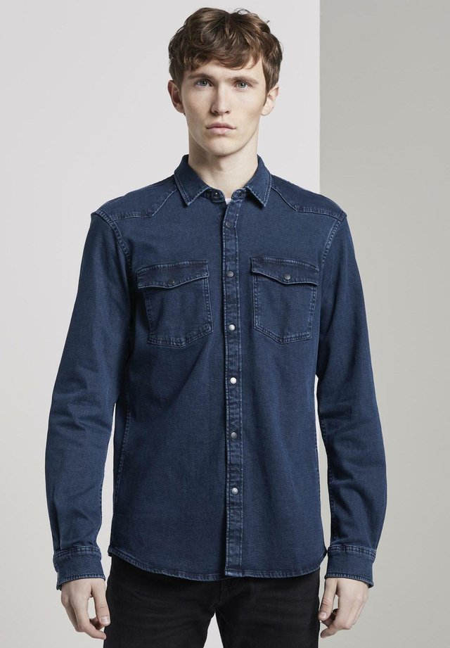 Shirt - dark stone wash denim