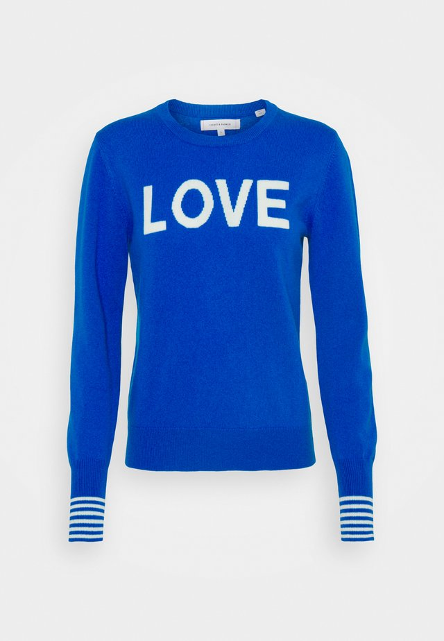 LOVE - Pullover - royal blue/cream