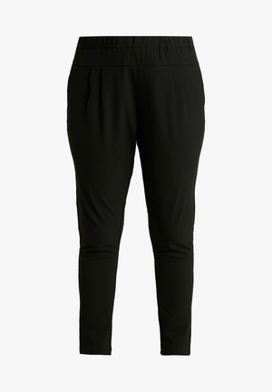PANTS - Tygbyxor - black deep