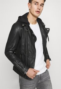 Freaky Nation - BE READY - Leather jacket - black - 4